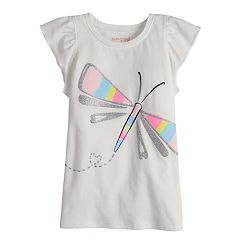 Girls 4-10 Jumping Beans® Graphic Flutter Tee