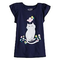 Girls 4-10 Jumping Beans® Cat & Bird Flutter Tee