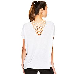 Women's Gaiam Emi Strappy Back Yoga Tee