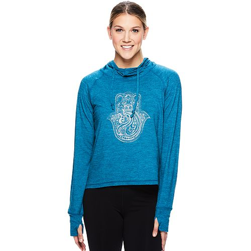 Women's Gaiam Maya Thumb Hole Graphic Yoga Hoodie