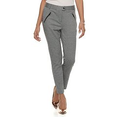 Juniors' Candie's® Zipper Mid-Rise Ankle Pants