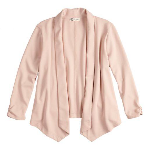 Juniors' About A Girl Open-Front Ponte Blazer