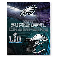 Philadelphia Eagles Super Bowl LII Champions Silk-Touch Throw Blanket