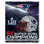 New England Patriots Super Bowl LII Champions Silk-Touch Throw Blanket