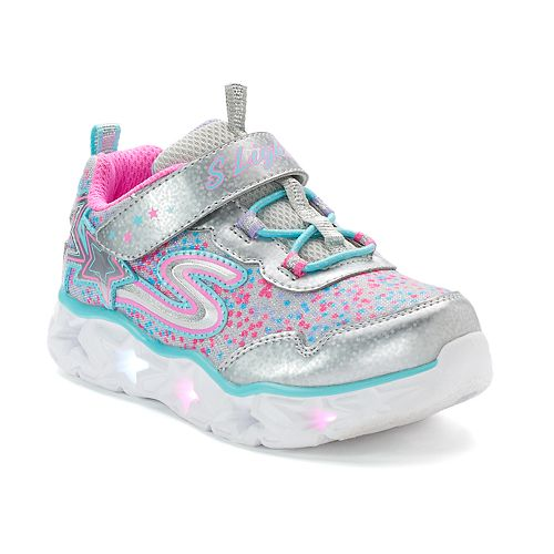 Skechers S Lights Galaxy Lights Toddler Girls' Light Up Sneakers