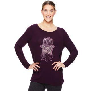 Women's Gaiam Hailey Yoga Long Sleeve Graphic Tee