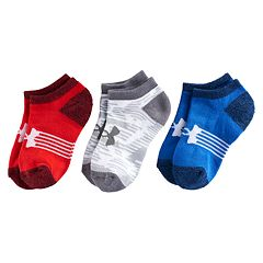 Boys 8-20 Under Armour Statement 3-Pack No-Show Socks