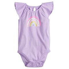 Baby Girl Jumping Beans® Graphic Flutter Bodysuit