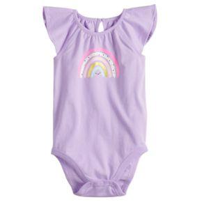 Baby Girl Jumping Beans® Graphic Flutter Bodysuit