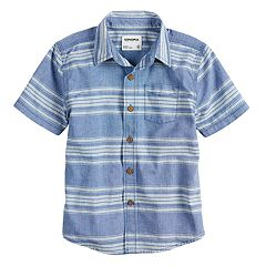 Boys 4-7x SONOMA Goods for Life™ Chambray Button Down Striped Shirt