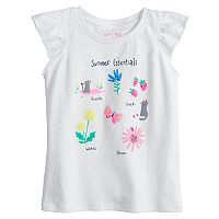 Toddler Girl Jumping Beans® Graphic Flutter Tee