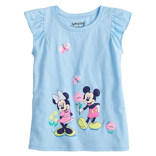 9761c21b0 Disney's Minnie & Mickey Mouse Toddler Girl Graphic Tee by Jumping ...