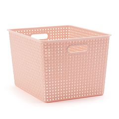 SONOMA Goods for Life™ Basketweave Plastic Storage Bin