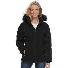 Womens Zeroxposur Gretchen Hooded Quilted Puffer Jacket