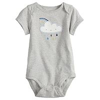 Baby Boy Jumping Beans® Rain Cloud Embroidered Bodysuit