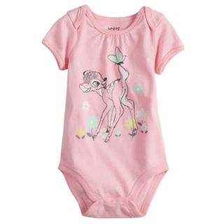 Disney's Bambi Baby Girl Graphic Bodysuit by Jumping Beans®