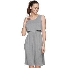 Maternity a:glow Popover Nursing Dress