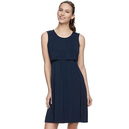 c2c81457459 Maternity a:glow Popover Nursing Dress