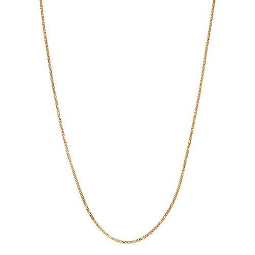Primavera 24k Gold Over Silver Popcorn Chain Necklace
