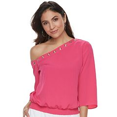 Women's Jennifer Lopez One-Shoulder Crepe Top