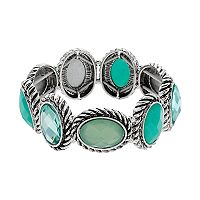 Dana Buchman Oval Halo Stretch Bracelet