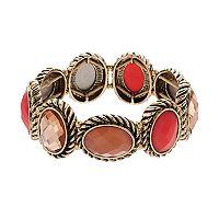 Dana Buchman Oval Halo Stretch Bracelet