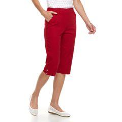 Women's Croft & Barrow® Pull-on Snap Hem Skimmer Capris