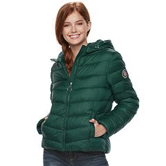 Juniors' madden NYC Packable Hooded Jacket