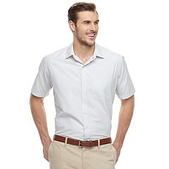 Big & Tall Van Heusen Air Classic-Fit Checked Button-Down Shirt