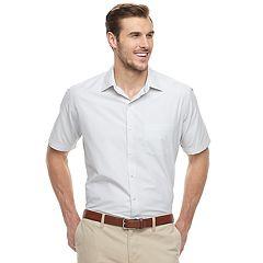 Big & Tall Van Heusen Air Classic-Fit Checked Button-Down Shirt