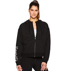 Women's Gaiam Nirvana 'Namaste' Graphic Crop Hoodie