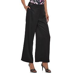 Women's Jennifer Lopez Wide-Leg Satin Dress Pants
