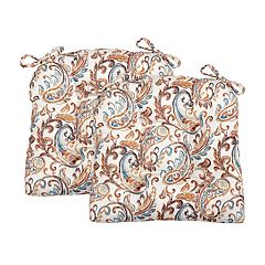 Perfect Performance Paisley Chair Pad 2-pack