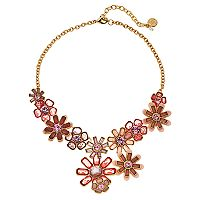 Dana Buchman Peach Flower Link Statement Necklace