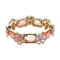 Dana Buchman Pink Flower Stretch Bracelet