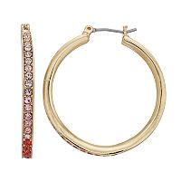 Dana Buchman Pink Ombre Hoop Earrings