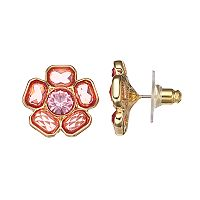 Dana Buchman Peach Flower Stud Earrings