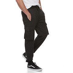 Men's Hollywood Jeans Houghton Fleece Cargo Jogger Pants