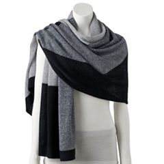Women's Apt. 9® Colorblock Cashmere Oversized Wrap Scarf