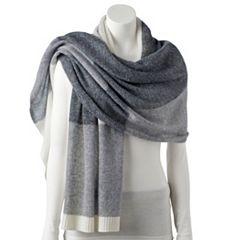 Women's Apt. 9® Colorblock Cashmere Oversized Wrap Scarf