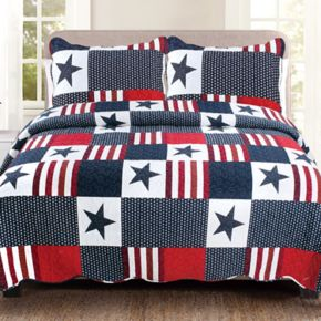 United Curtain Co. Americana Quilt Set
