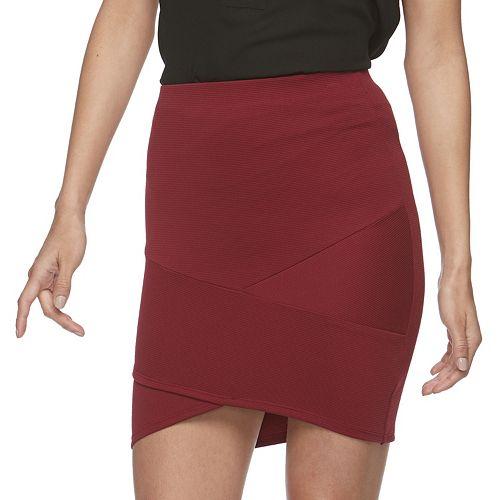 Juniors' Joe B Ribbed Tulip Hem Skirt