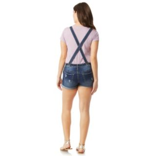 Juniors' Wallflower X-back Insta Soft Jean Shortalls