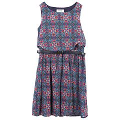 Girls 7-16 Speechless Belted Sleeveless Chiffon Dress