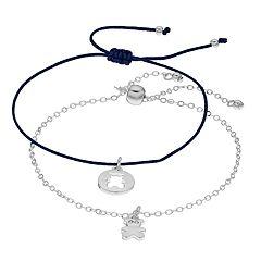 LC Lauren Conrad Teddy Bear Punch Out Bolo & Slipknot Bracelet Set