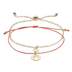 LC Lauren Conrad Simulated Crystal Duck Charm Bolo & Slipknot Nickel Free Bracelet Set