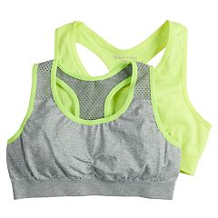 Girls 7-16 Pink Cookie 2-pack Mesh Seamless Sports Bras
