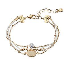 LC Lauren Conrad Cubic Zirconia Multistrand Mama Bracelet