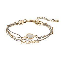 Lc Lauren Conrad Cubic Zirconia Mom Multistrand Nickel Free Bracelet