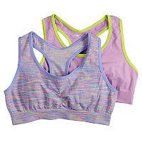 Girls 7-16 Pink Cookie 2-pack Space-Dyed Seamless Sports Bras